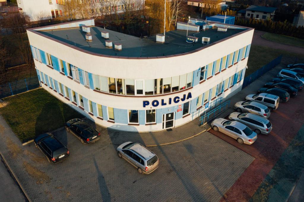 budowa budynku policji Kamieńsk